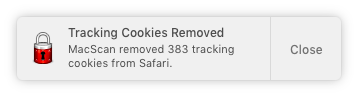 Automatic Cookie Cleaning Notification