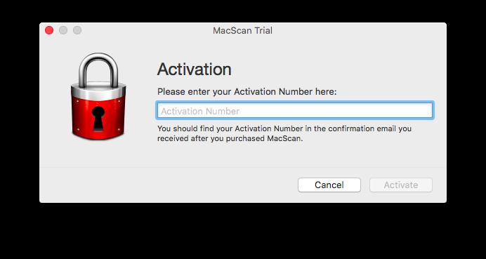 Registering MacScan