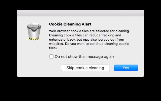 Cookie Cleaning Alert