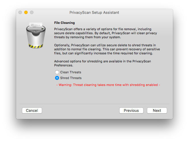 Setup Assistant: Secure File Cleaning