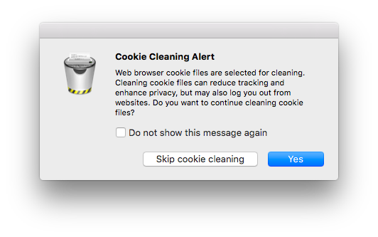 Cookie Cleaning Alert